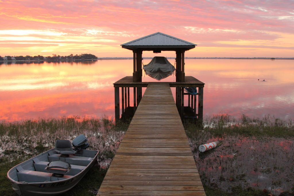 Sunrise Boat Dock Highlands County Florida